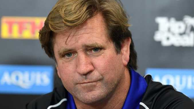Des Hasler went to the Bulldogs after his Manly tenure was terminated in 2017. Picture: Dave Hunt/AAP