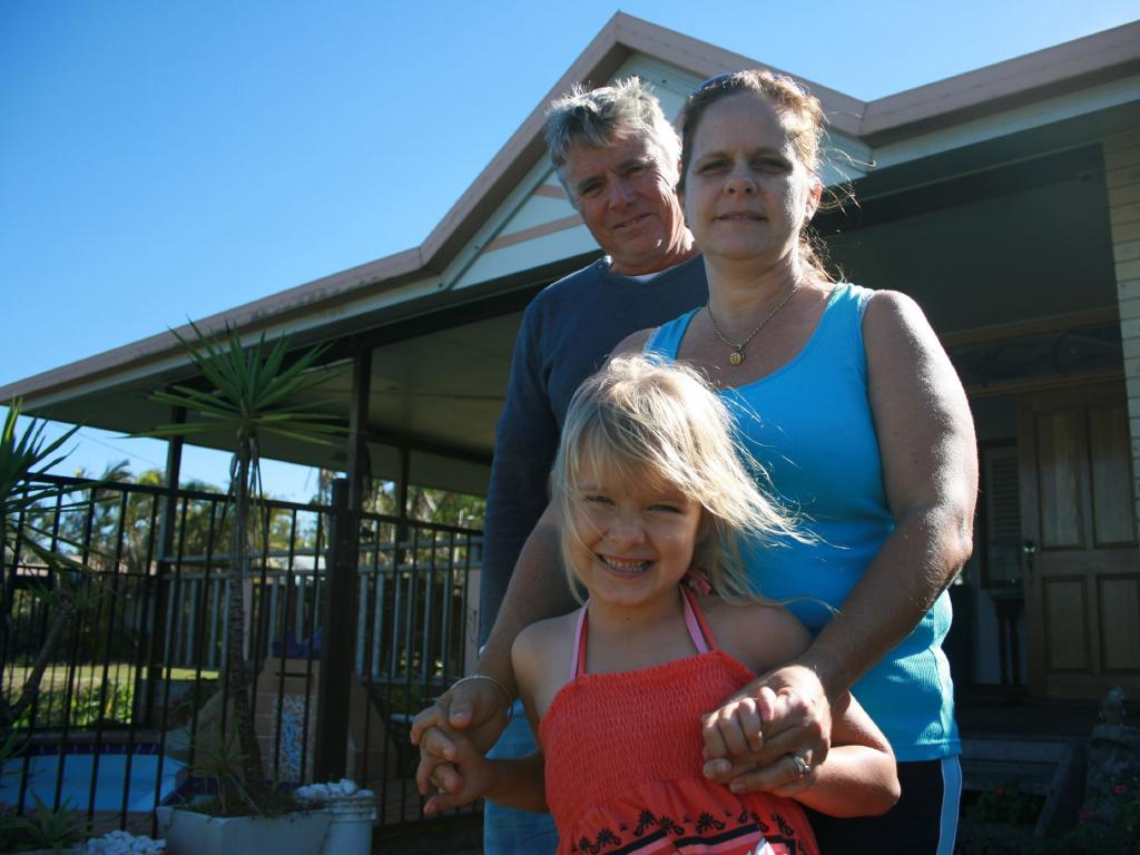 Kerri Pike with husband Alister and daughter Kyanna