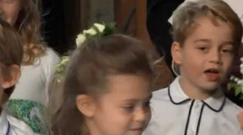 The adorable bridal party included Prince George.