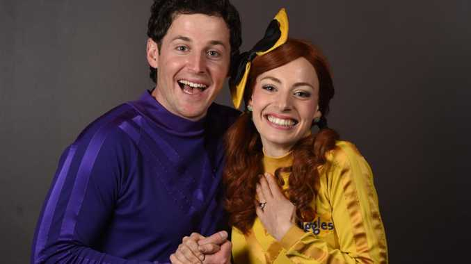 Lachlan Gillespie and Emma Watkins from The Wiggles this year announced their marriage was over. Picture: Naomi Jellicoe