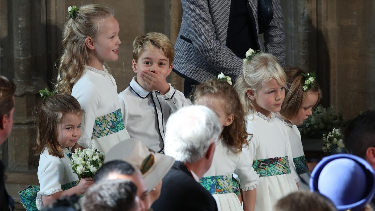 Prince George can always find a camera lens. Picture: Getty