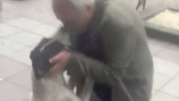 Giorgi Bereziani was reunited with his beloved dog, Jorge, after three years. Yes, you'll cry. Picture: YouTube