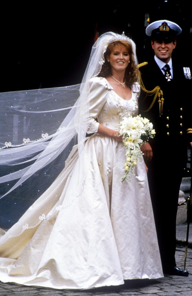 "Fergie's custom-made tiara was Eugenie's ""something borrowed"". Photo: John Shelley Collection/Avalon/Getty Images"