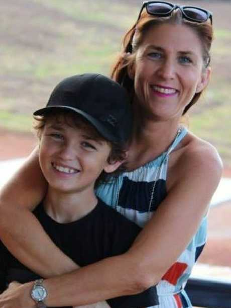 Connor Creagh, 11, with mother Danielle Miles