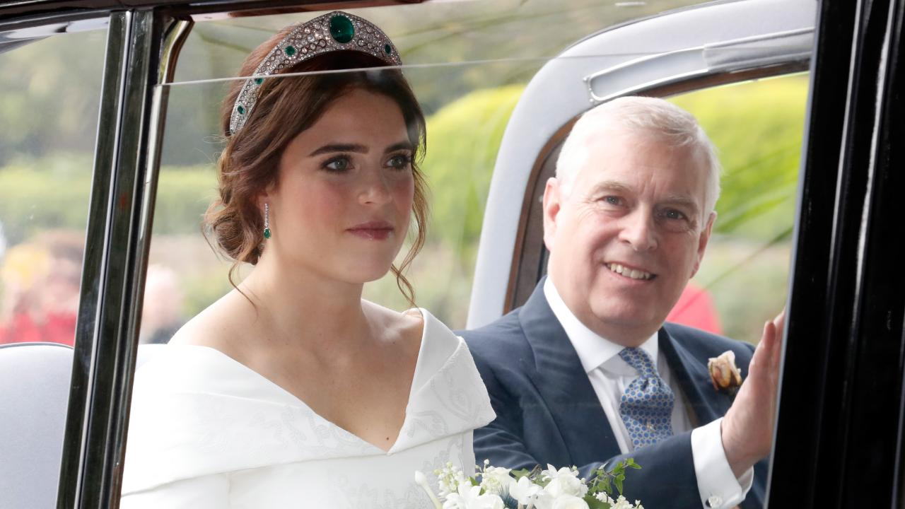 Excellent Prince Andrew photobomb. Picture: Getty
