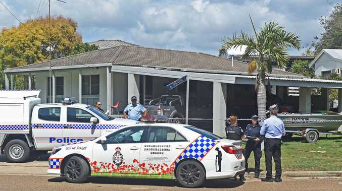 Crime scene at Topton Street, Alva Beach after two people died, one person was injured and one person was taken into custody. Picture: Zak Simmonds