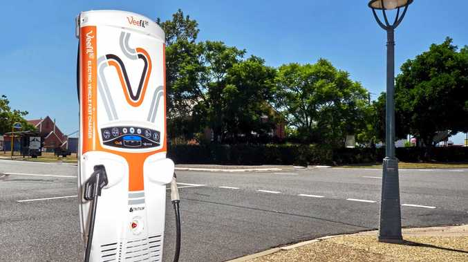 One of Tritium's superfast 'Veefill' charging stations for electric cars