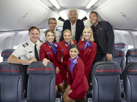 Richard Branson joined Virgin Australia on a world-first meditation flight over Sydney on Thursday.