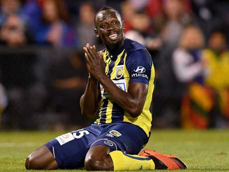 Usain Bolt had plenty of chances and finished with his first two goals.
