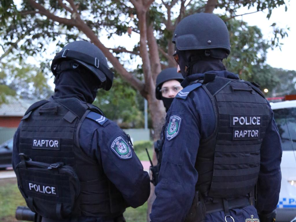 Strike Force Raptor officers arrest scene yesterday.