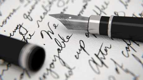 Black ink stands out in scanned copies of papers.