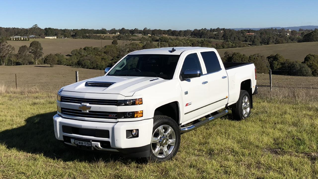 The slightly smaller Chevrolet Silverado 2500. Picture: Joshua Dowling.