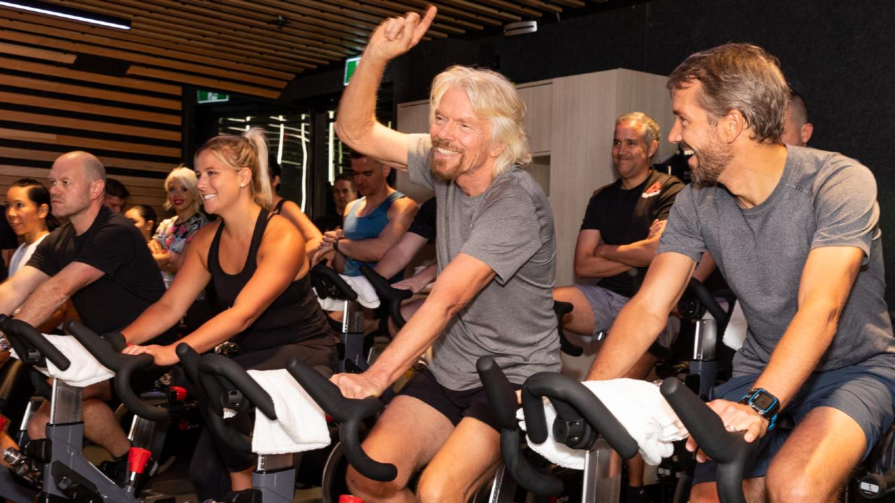 Sir Richard Branson at Sydney's Barangaroo Virgin Active.