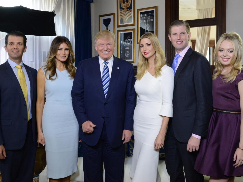 The Trump family gathers for a photo at the opening of the Trump International Hotel in Washington DC. Picture: Getty