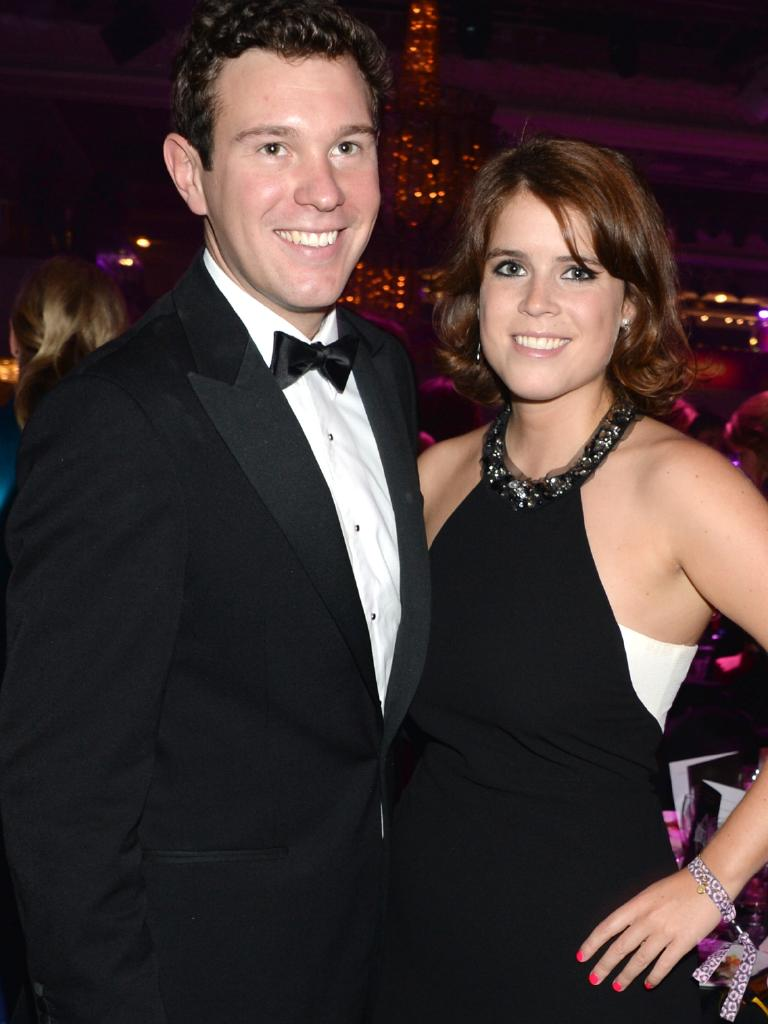 Jack Brooksbank and Princess Eugenie of York pose at the Boodles Boxing Ball 2013. Picture: Getty