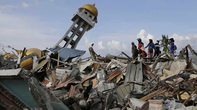 Tsunami devastation in Palu city, Indonesia. Picture: AP Photo/Aaron Favila