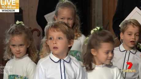 The cute bridal party included Prince George (right).