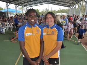 Current school captains Assarn Sands and Shelly