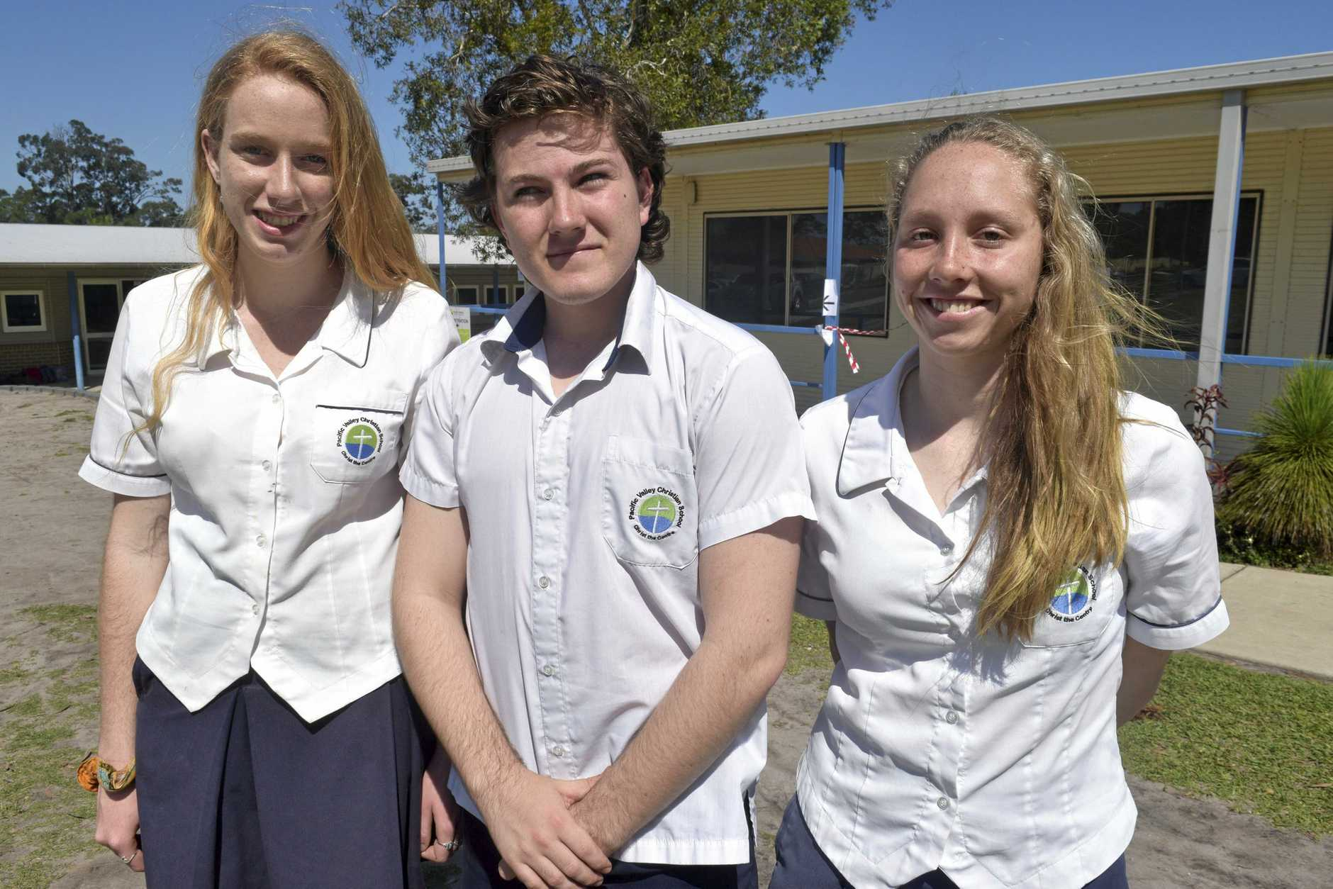 Katie Anne Roan, Joshua Fitzgerald and Georgia Breward from Pacific Valley Christian School.