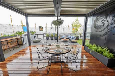 The outdoor terrace was the couple's first room win.