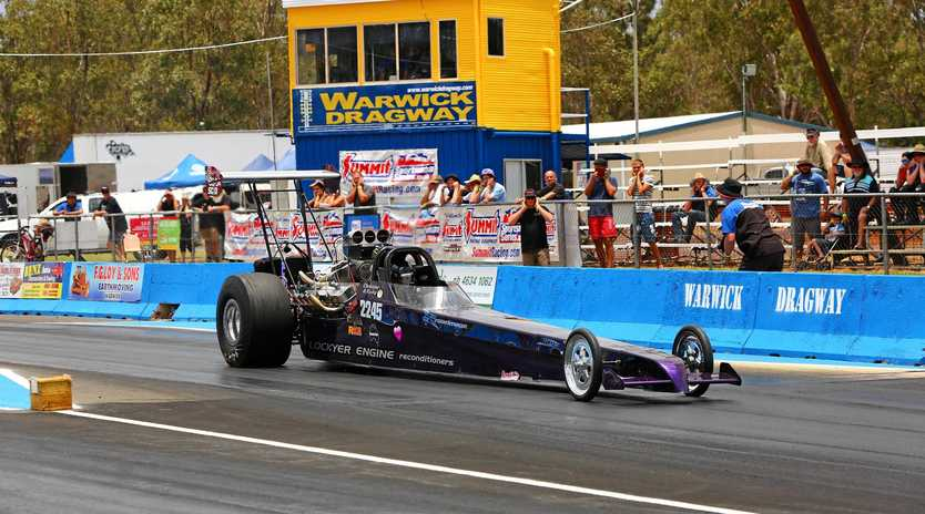 SPEED: Christine Steffens will return to the Warwick Dragway for this weekend's meeting. Photo dragphotos.com.au