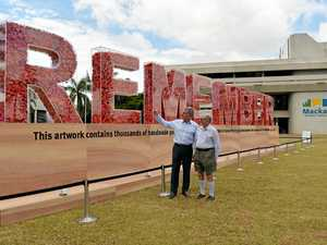 Queensland Armistice Centenary Art installation in Mackay