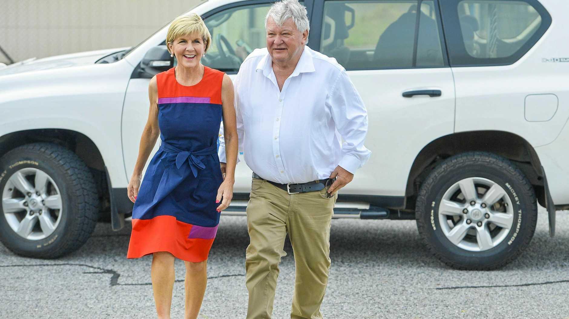 Foreign Minister Julie Bishop, with Member for Flynn Ken O'Dowd.