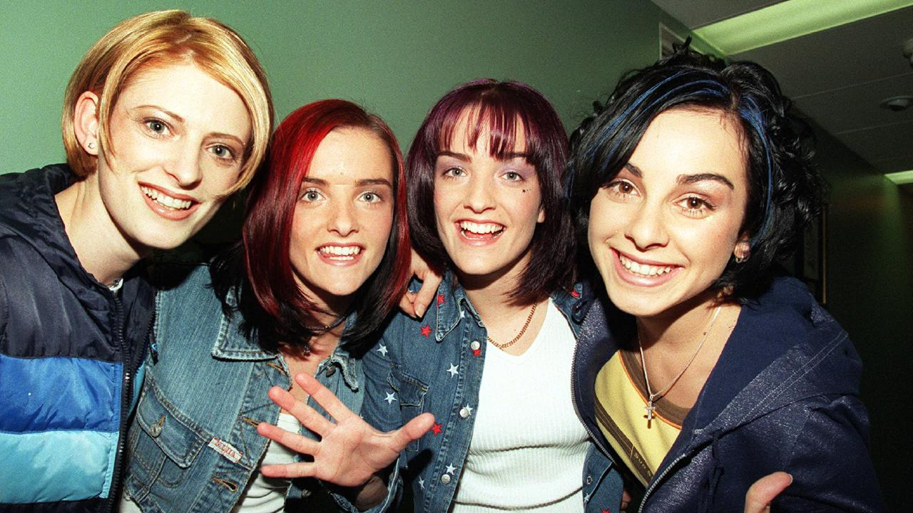 B*witched, L-R: Sinead O'Caroll, Edele Lynch, Keavy Lynch and Lindsay Armaou. Some people say they look like their dads.