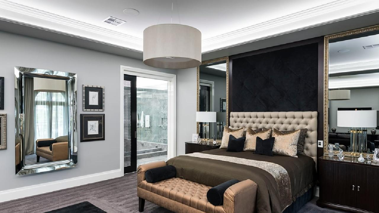 The master suite is 'opulent' to say the least.