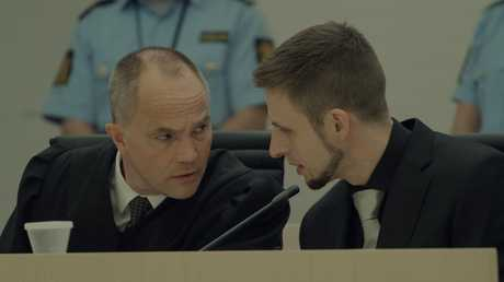 The film culminates in Breivik's trial