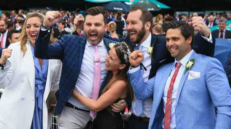 Connections of Belflyer celebrate. Picture: Getty Images