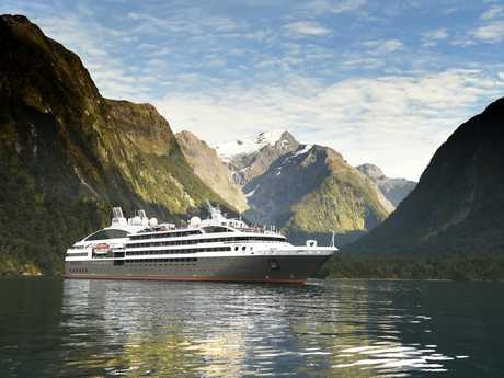 Cruise ship L'Austral in Milford Sound. Picture: Ponant/Nathalie Michel