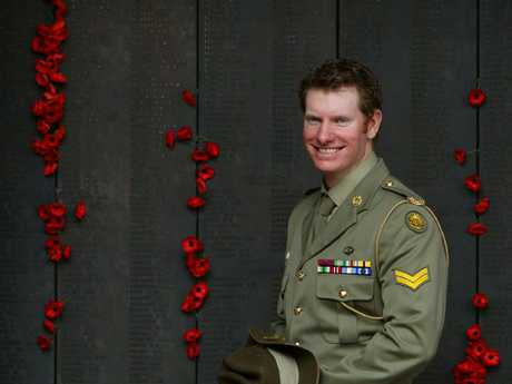 Lending his support: Australian Victoria Cross recipient, Corporal Daniel Keighran.