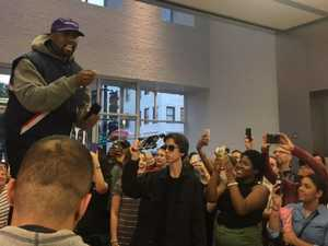 Kanye West's bizarre Apple store rant