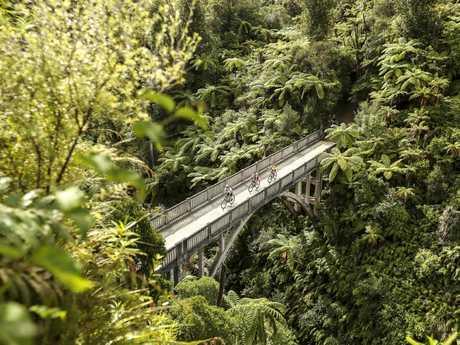 Bridge to Nowhere, Whanganui National Park. Picture: Visit Ruapehu
