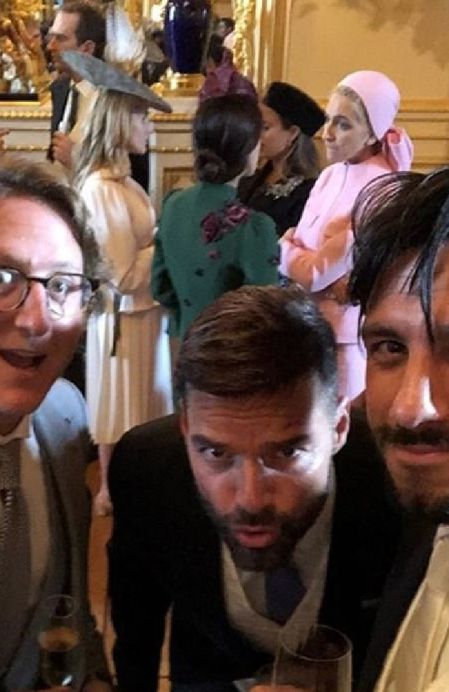 Singer Ricky Martin decided to Live la Vida Loca by breaking the social media ban at the afternoon reception hosted by the Queen.
