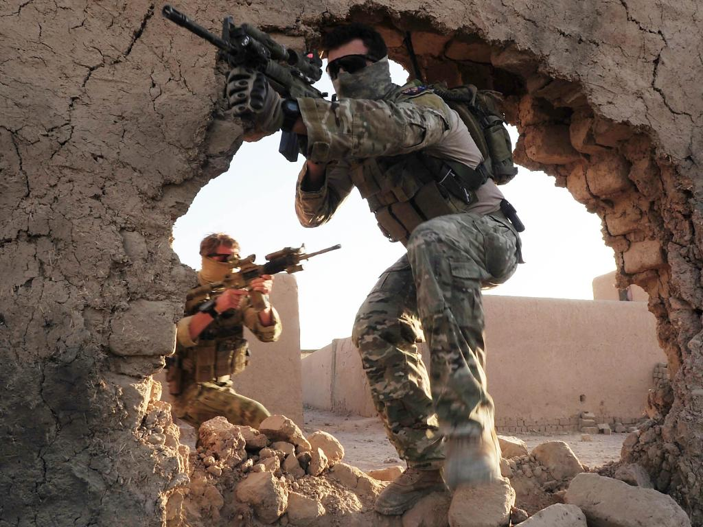 Special Operations Task Group soldiers in action in Uruzgan Province of Afghanistan. Picture: Corporal Chris Moore