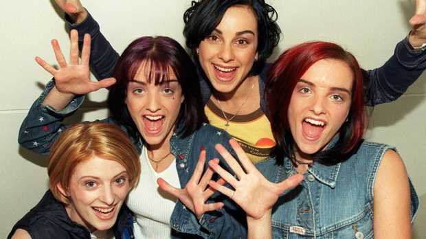 B*witched in 1998, from left to right: Sinead O'Caroll, Keavy Lynch, Lindsay Armaou and Edele Lynch.