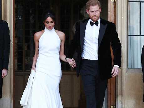 Harry and Meghan had that movie star poise when they headed off for their reception.