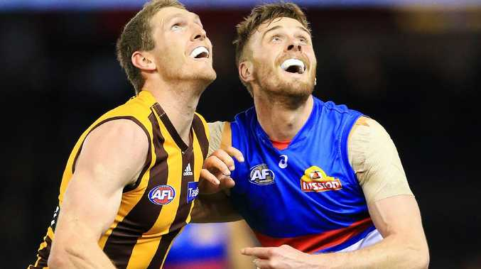 Jordan Roughead, right, had appeared set to join West Coast. Picture: Mark Stewart