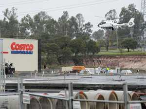 Chopper lends a hand at Costco site