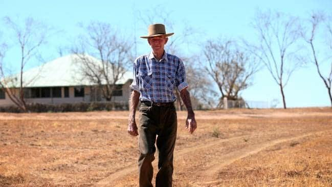 Winton grazier Charlie Phillott on his property Carisbrooke Station.
