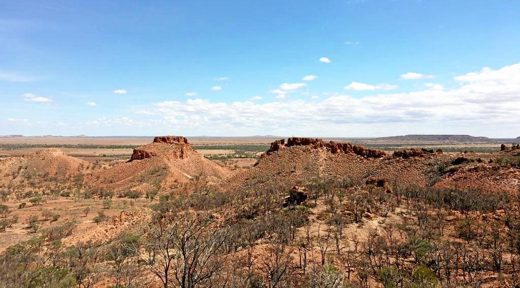 Views of Carisebrooke Station. From the entrance, there is views of the William Valley. Visitors are also shown through Aboriginal art on the some of the caves and rock faces.