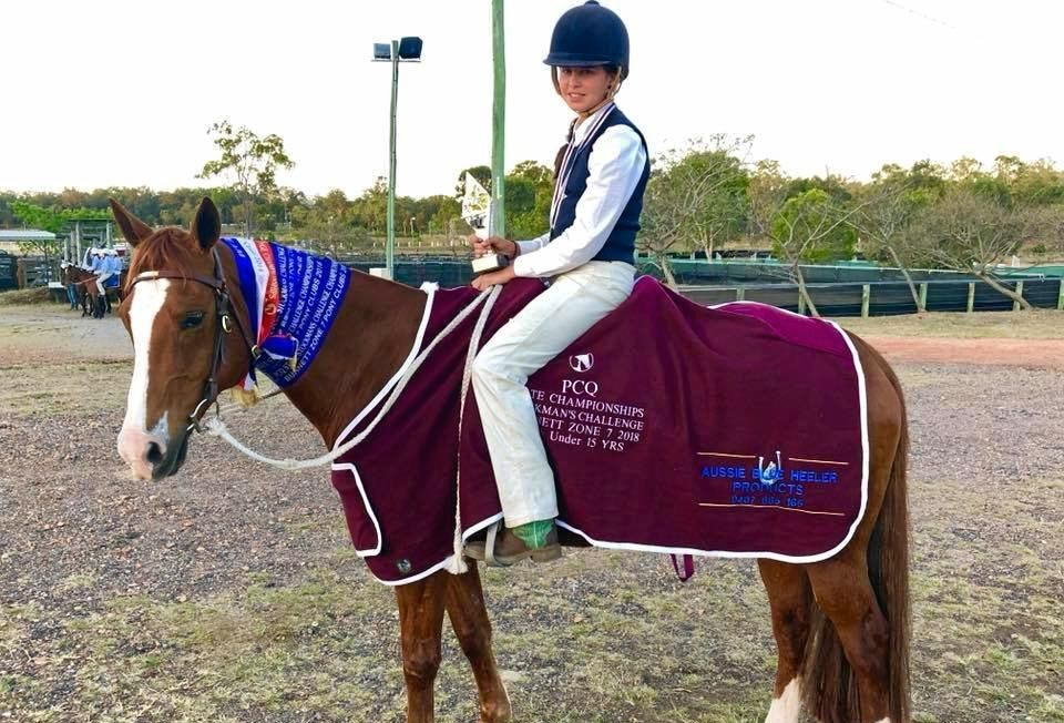 CHAMPION: Baylee Evans won her second State title at the Pony Club Queensland State Campdraft and Stockmans Challenge.