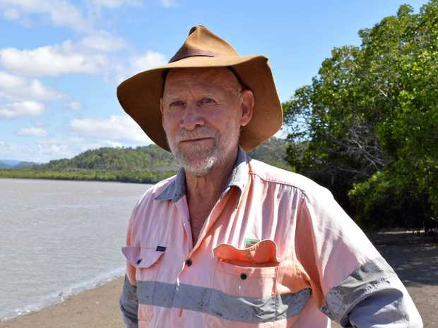 SHARK TALE: Proserpine's Ken Madsen was on the scene when a shark jumped into a boat on the Proserpine River last Friday, October 5. A crocodile was also on the riverbank at the time.
