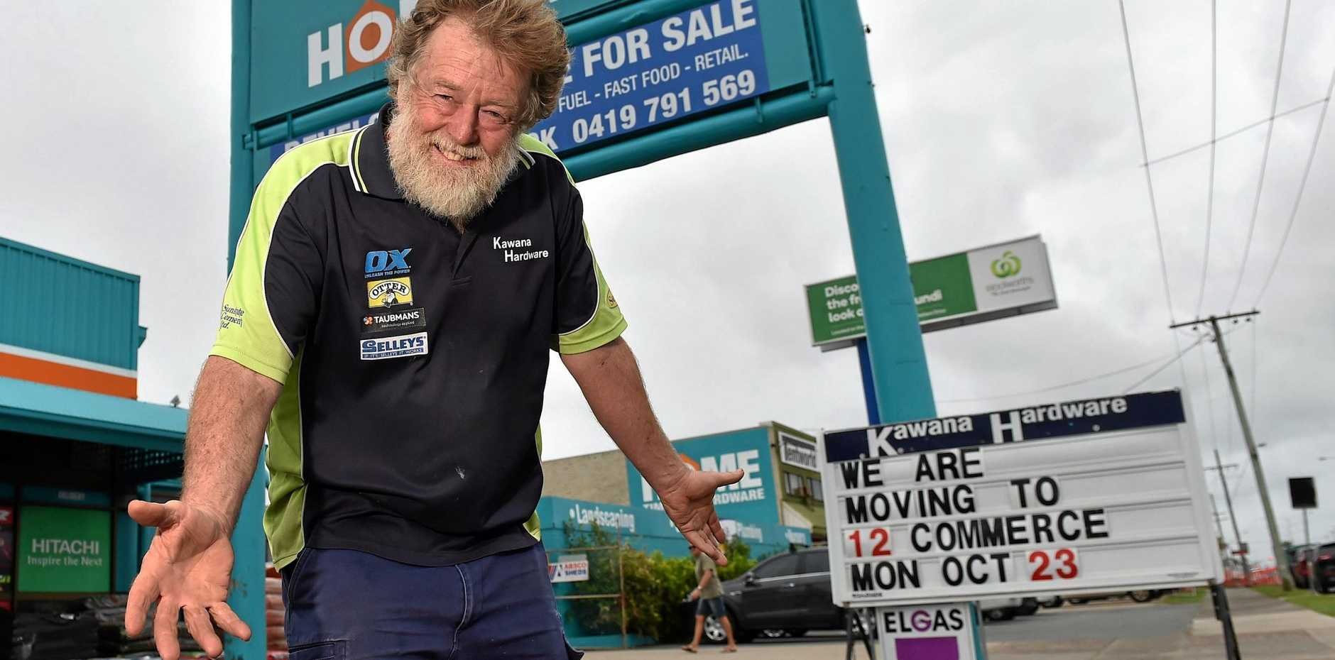 MOVING PLACES: Kawana Harware established in 1984 is changing locations and Ian Witten has been with the company from 1998.