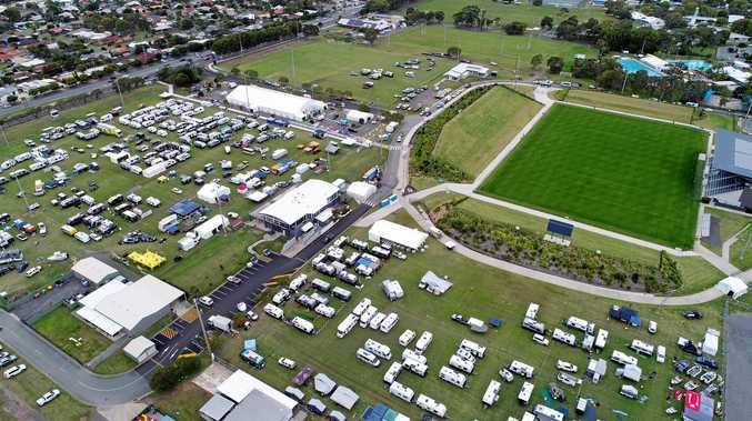 DRONE PHOTO: The 25th Sunshine Coast Home Show and Caravan, Camping and Boating Expo at Kawana.