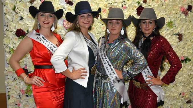 AND THE WINNER IS: The 2018 Warwick Rodeo Queen is Lauren McKenzie and the Warwick Rodeo Princess is Tyler Aspinall. Pictured: Nicole Evans, Tyler Aspinall, Savannah Halley and Lauren McKenzie.