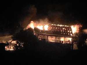 Two homes destroyed in fire overnight
