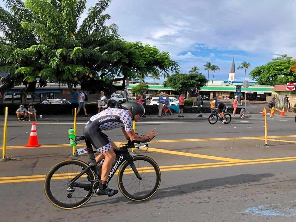 Josh Minogue during the 2018 Ironman World Championship at Hawaii.